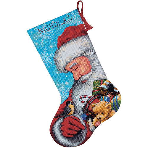 Dimensions Santa and Toys Stocking Needlepoint Kit