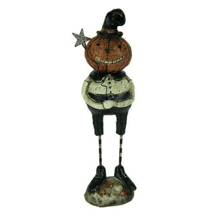 Vintage Look Grinning Pumpkin Head Statue Halloween Decor
