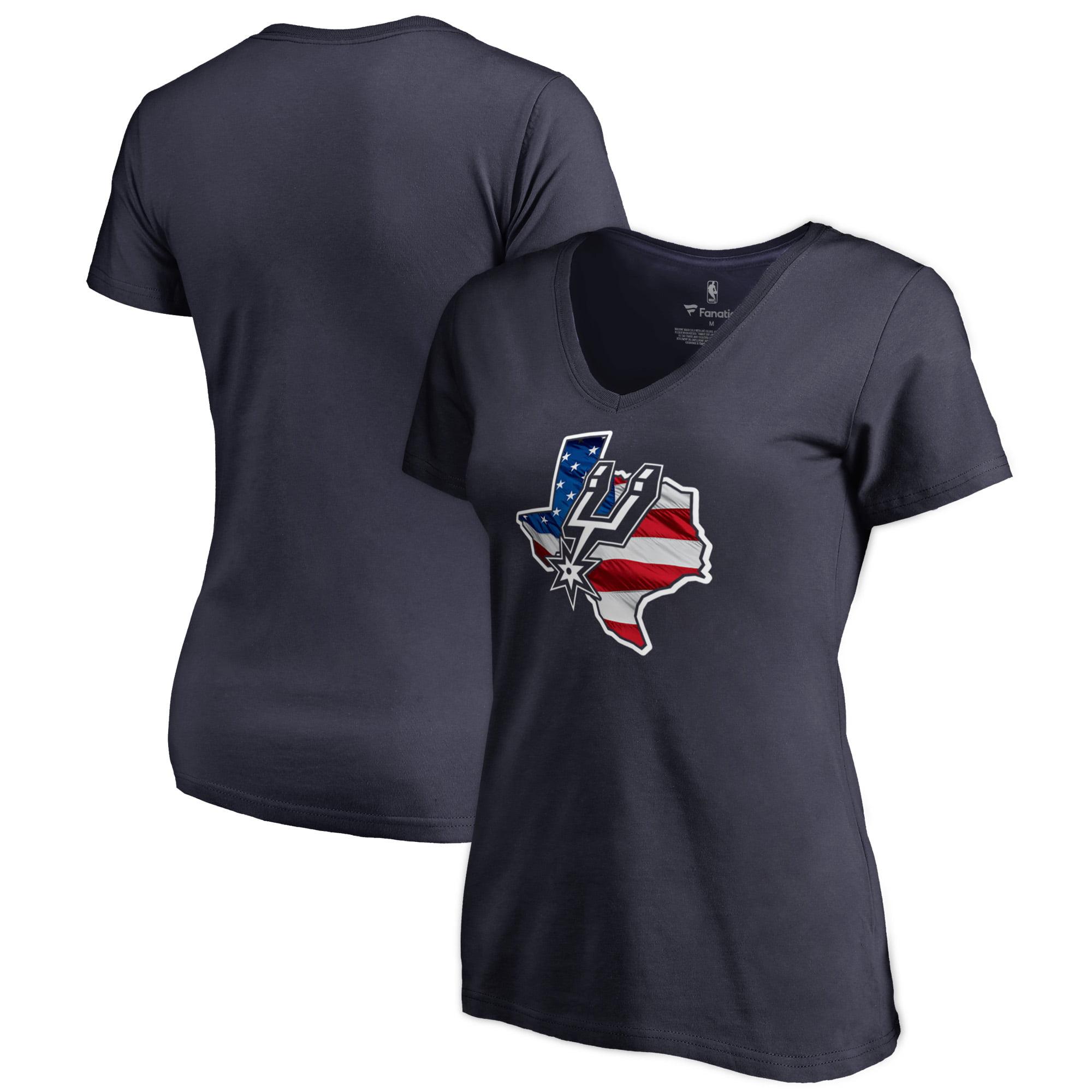 San Antonio Spurs Fanatics Branded Women's Plus Size Banner State V-Neck T-Shirt - Navy