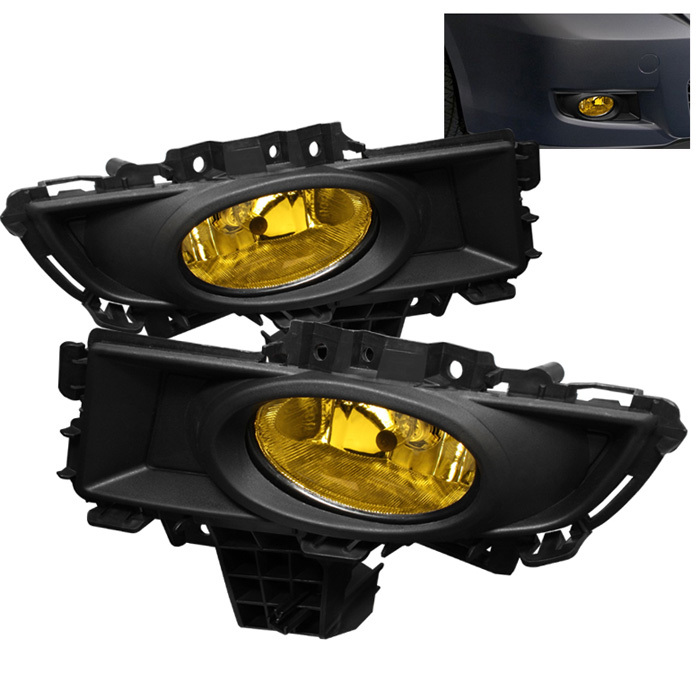 Spyder Mazda 3 07-08 4Dr OEM Fog Lights (Won't Fit Sports/Gt Or Hatchback)W/Switch - Yellow