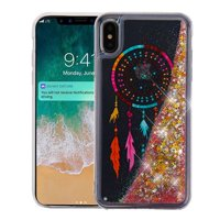Apple iPhone Xs Max (6.5 Inch) - Phone Case BLING Hybrid Liquid Glitter Quicksand Rubber Silicone Gel TPU Protector Hard Cover - Dreamcatcher Phone Case for Apple iPhone Xs Max