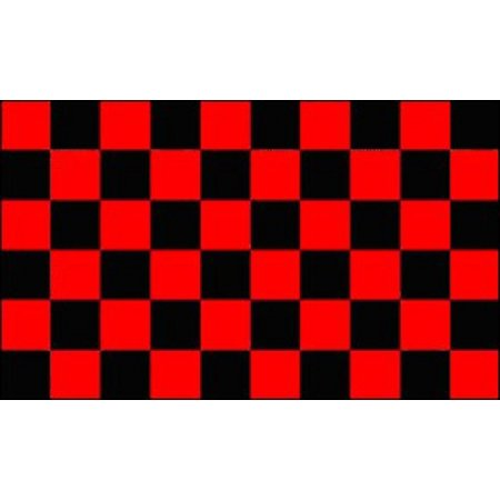 Red and Black Checkered Flag Advertising Banner Store Sign Party Pennant 2x3 - Checkered Flag Pennant Banner