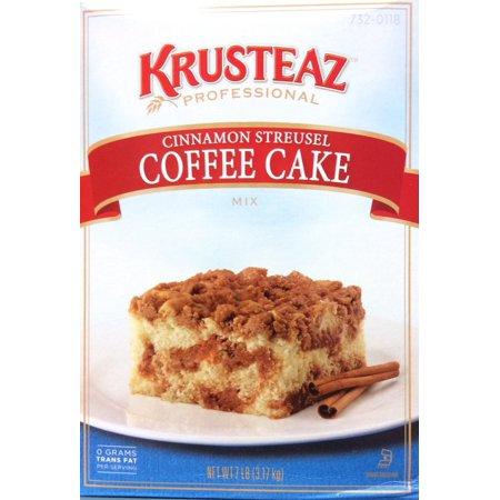 6 PACKS : Krusteaz Cinnamon Streusel Coffee Cake Mix , 7-Pounds