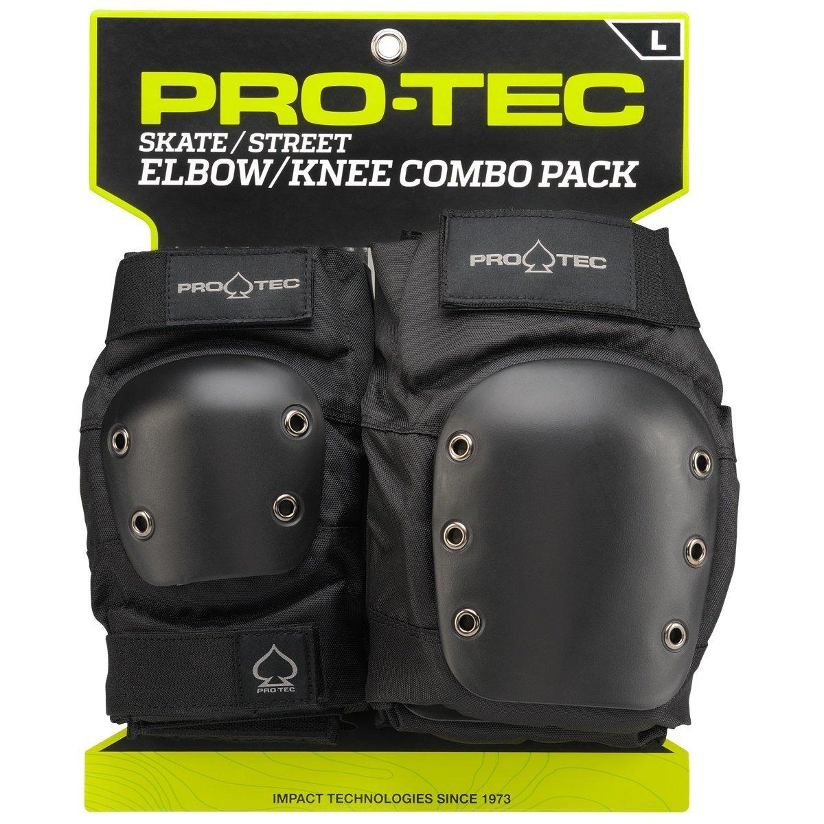 Pro-Tec Street Knee and Elbow Pad Set, Set of professiona...