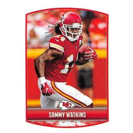 2018 Panini NFL Stickers #196 Sammy Watkins Kansas City Chiefs Football Sticker (Glow City Football)