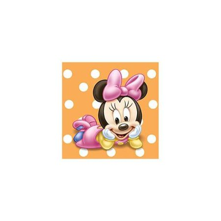 Minnie Mouse Baby 1st Birthday Party Beverage Napkins](Baby Minnie Mouse First Birthday)