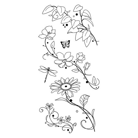 Beauty Stems - Beauty Stems From Here Clear Stamps, Self clinging and repositionable - can be used over and over again for versatile stamping By Inkadinkado