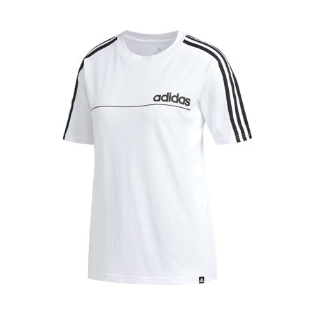 NEW Adidas Women's Oversize Fine Line Athletics Crew Neck Short Sleeve T-Shirt ()