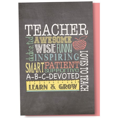 Tree-Free Greetings Awesome Teacher Boxed ECOnotes Blank Note (Best Teacher Card Ideas)