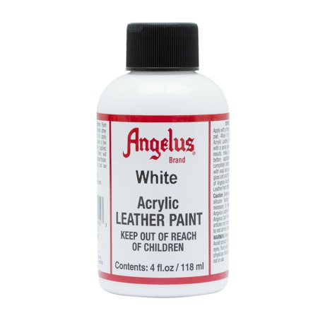 Angelus® Acrylic Leather Paint, 4 oz., White - White Clown Paint