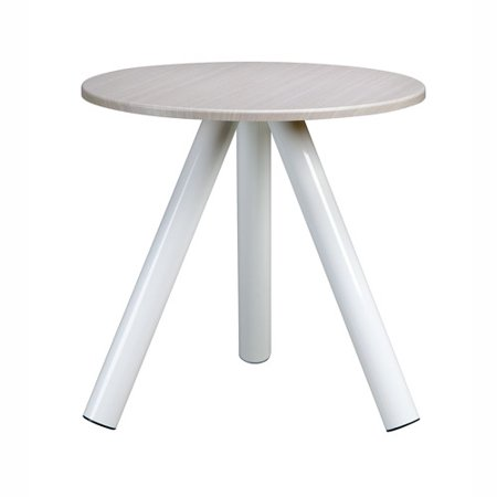 Sauder Soft Modern Collection Side Table Artic White Legs