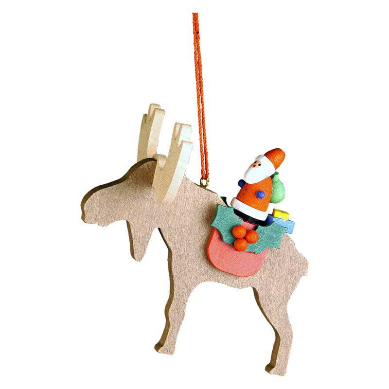 Christian Ulbricht Santa on Elk Ornament