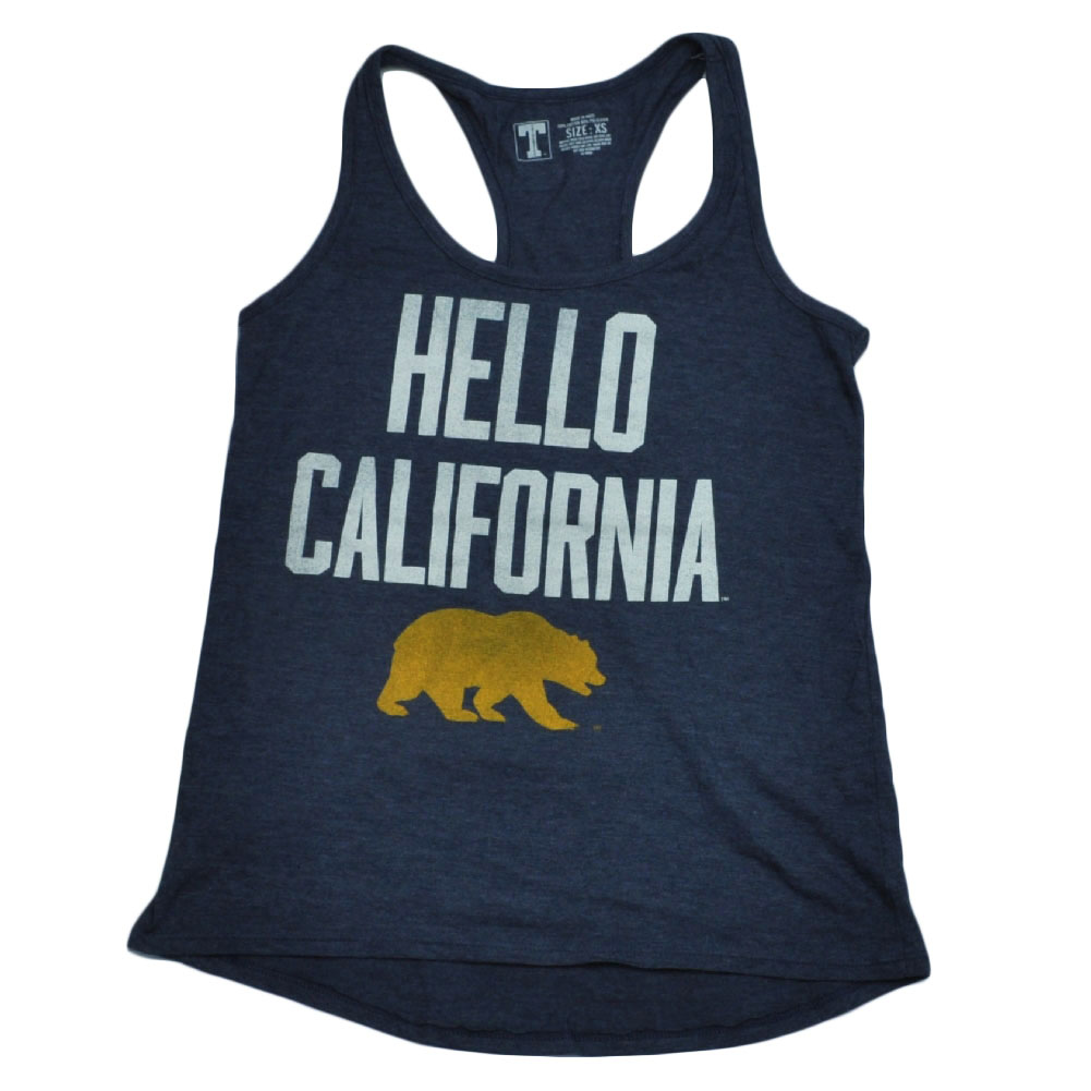 NCAA California State Golden Bears Tank Top Racerback Womens Ladies Navy 2XLarge