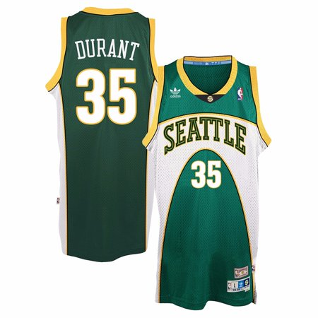 265be7c2e Kevin Durant Seattle Supersonics NBA Adidas Green Soul Swingman Throwback Retro  Jersey For Men - Walmart.com