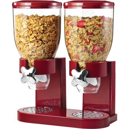 Zevro Original Indispensable Dual 17.5 oz Dispenser, Red/Chrome