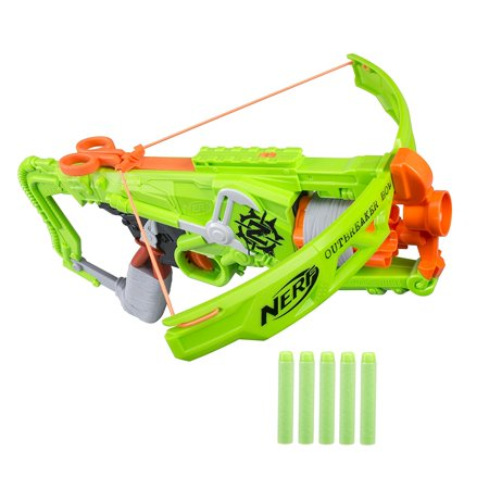Zombie Strike Outbreaker Bow  5 Dart Rotating Drum By Nerf