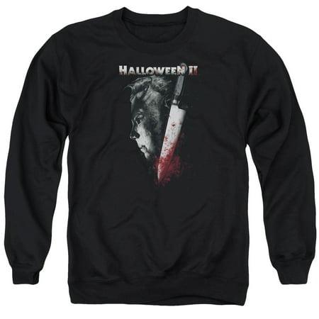 Halloween II Horror Slasher Movie Series Cold Gaze Adult Crewneck Sweatshirt