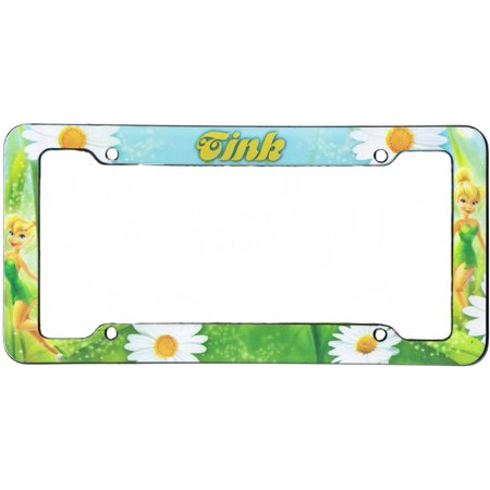 Tink Daisy Plastic Tinkerbell Disney License Plate Frame - Walmart.com