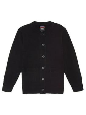 French Toast Girls 4-20 School Uniform Anti-Pill Crewneck Cardigan Sweater