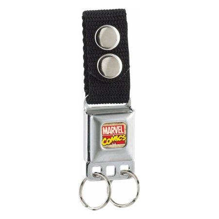 Marvel Logo Mini Seatbelt Keychain