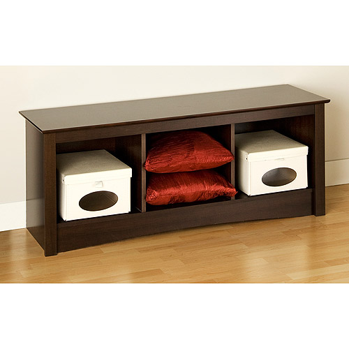 Edenvale Cubbie Bench, Espresso - Prepac Furniture