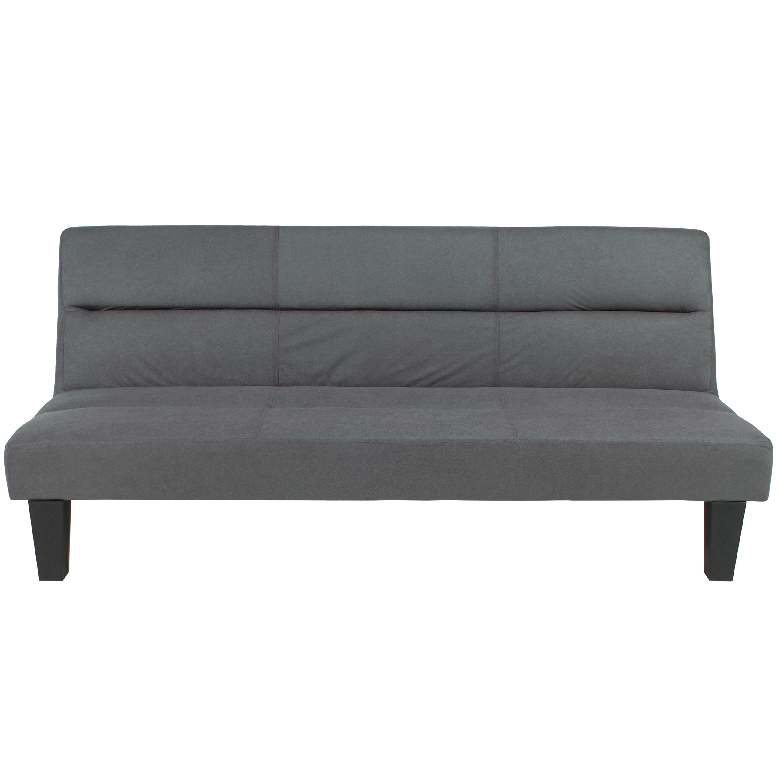 Best Choice Products Microfiber Futon Folding Couch Sofa Gray