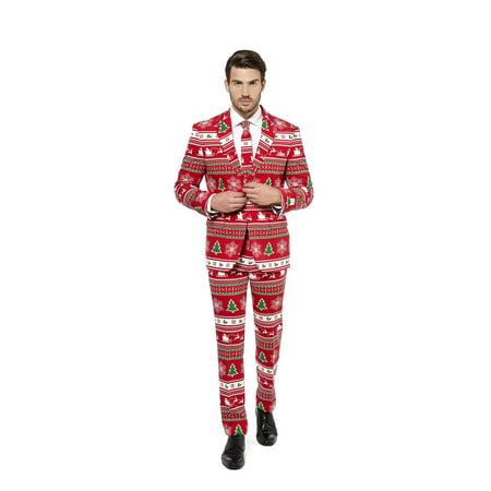 OppoSuits Men's Winter Wonderland Christmas Suit - Oppo Suit