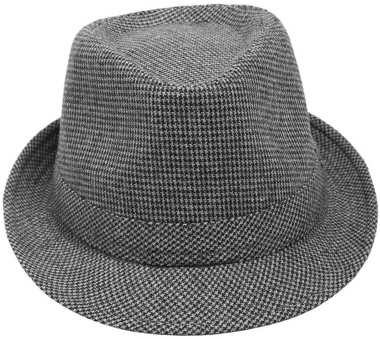 8a50c3f3218 Simplicity Unisex Timelessly Classic Manhattan Fedora Hat, Grey/Black2 -  Walmart.com