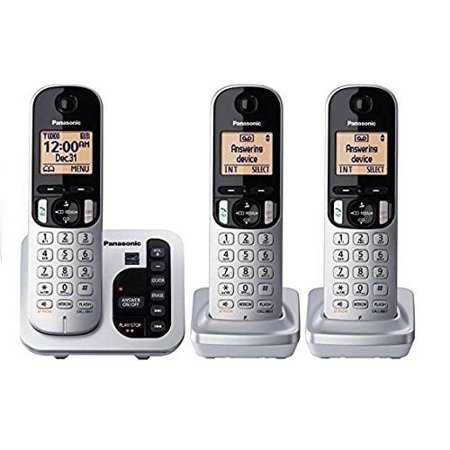 Refurbished Panasonic KX-TG433SK DECT 6.0 Cordless Phone System w/ Call Block & Silent (Best Telephone Call Blocks)