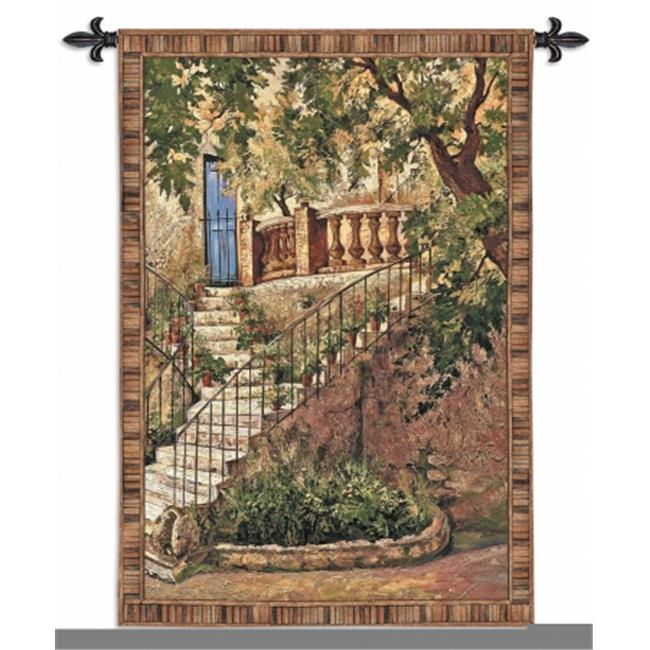 FineArtTapestries 3356-WH Tuscan Villa I Small Wall Tapestry