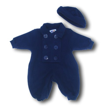 Good Lad Infant Boys Fleece Bunting Coat and Hat - NAVY 24 -