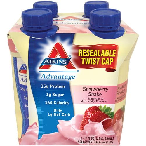Atkins Advantage Strawberry Shake, 4ct