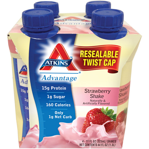 Atkins Advantage Strawberry Shake, 4ct
