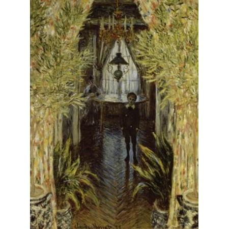 A Corner of the Apartment   1875  Claude Monet  Musee dOrsay Paris Poster Print