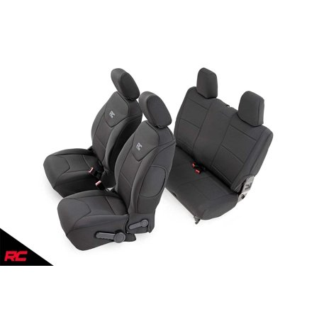 Rough Country Neoprene Seat Covers (fits) 2007-2018 Jeep Wrangler JK 2DR