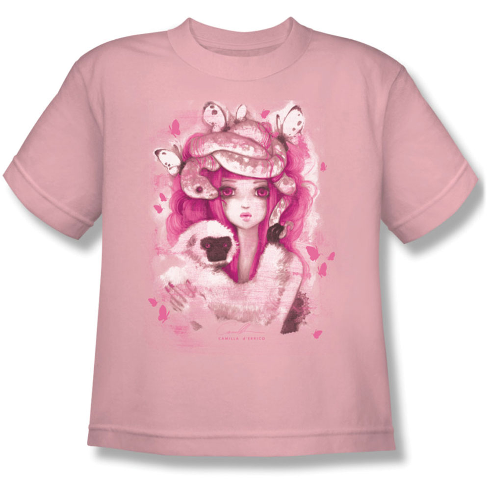 Helmetgirls Men's  Unwavering Hearts A Flutter Youth T-shirt Pink