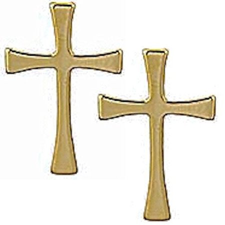 Maltese Cross Lapel Pins, Gold Plated (3) Christian (Cheap Lapel Pins)