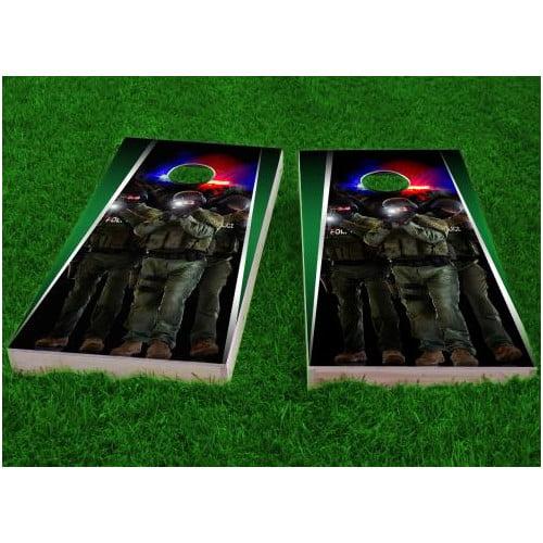 Custom Cornhole Boards SWAT Team Cornhole Game (Set of 2)