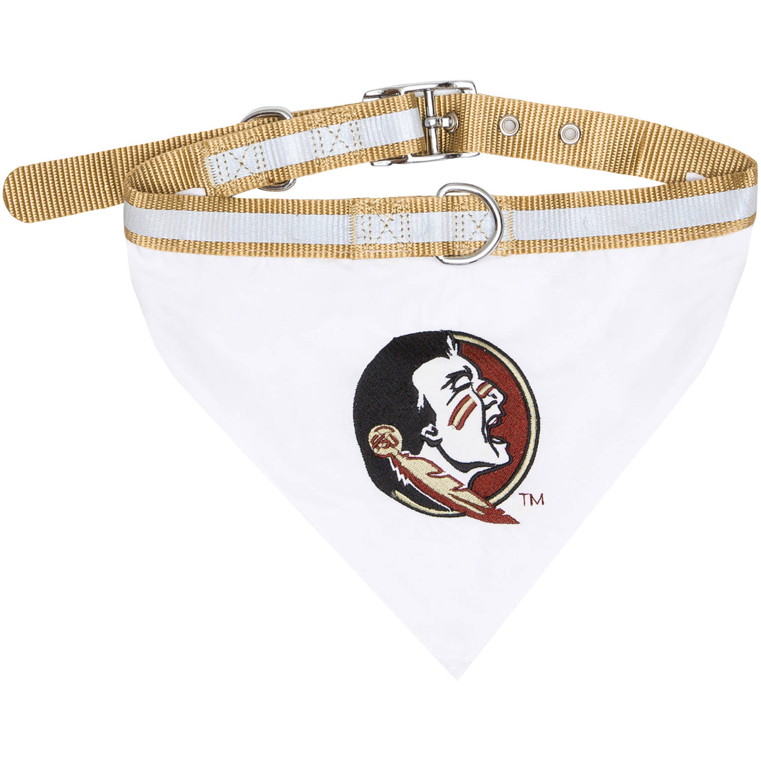 Pets First College Florida State Seminoles Pet Bandana, 3 Sizes Available. With Collar
