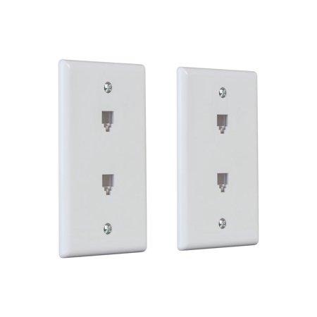 Monoprice Duplex Phone Jack Plate, White, 2-pack - image 2 of 2