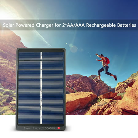 2*AA/AAA Rechargeable Batteries Solar Powered 1W 4V Solar Panel for Battery Charging - image 5 of 7