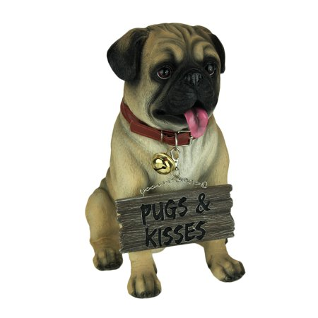 Pug Love Indoor / Outdoor Welcome Dog Statue ()