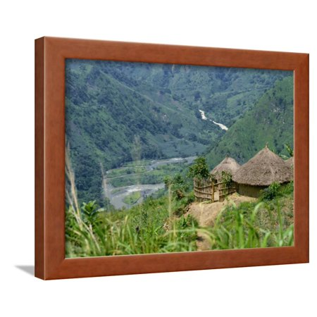 Native Huts in a Valley Near Uriva, Zaire, Africa Framed Print Wall Art By Poole