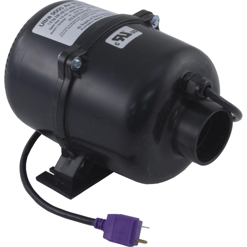 Blower, Air Supply Ultra 9000, 1.0hp, 230v, 2.5A, Mini Molded