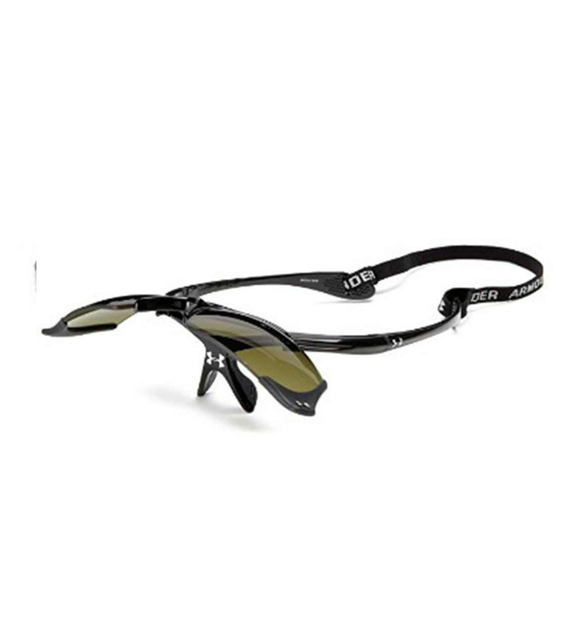 a3b0cc3ebe28 Under Armour Thief Flip-Up Sunglasses Shiny Black/Game Day - Walmart.com