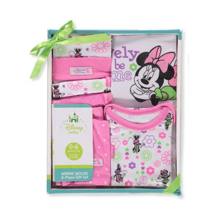 Disney Minnie Mouse Baby Girls' 6-Piece Layette Set