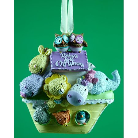 Baby's First Christmas Noah's Ark Christmas Ornament By JWM Ship from US ()