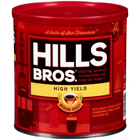 Hills Bros. High Yield Ground Coffee, Medium Roast, 30.5 Ounce -