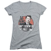 Parks and Recreation Don't Screw Up Juniors V-Neck Shirt