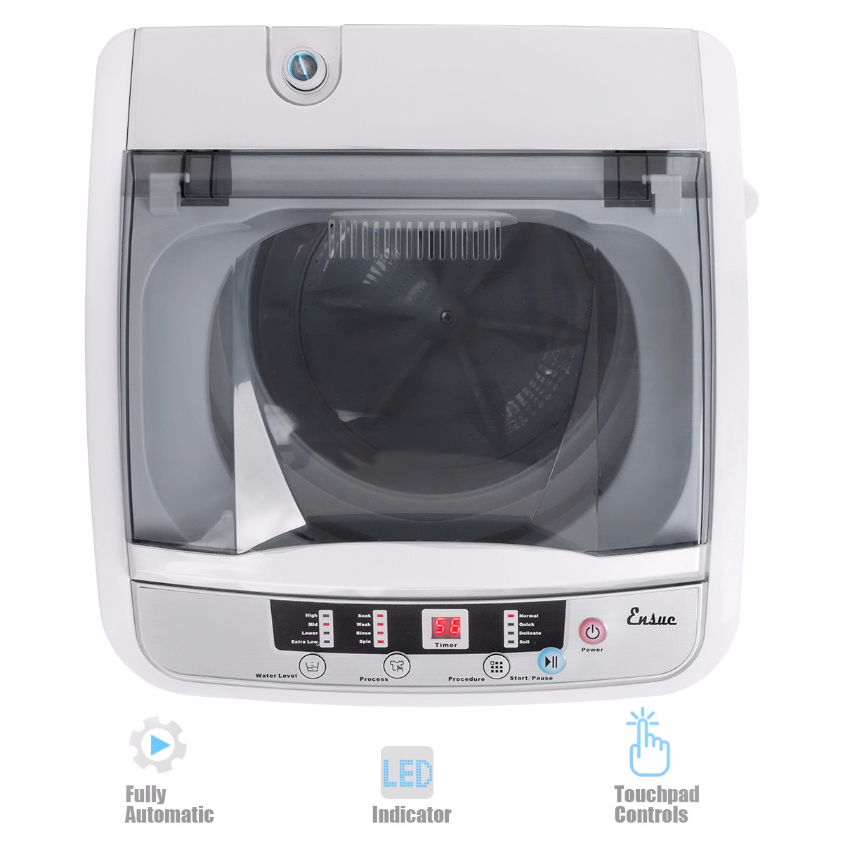 Ensue 7.7lb automatic mini washer and spinner dryer portable ...